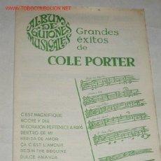 Partiture musicali: PARTITURAS DE GRANDES EXITOS DE COLE PORTER.. Lote 24508743