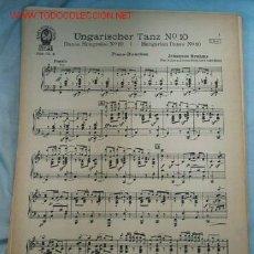 Partituras musicales: PARTITURA BRAHMS. Lote 16749965