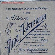 Partituras musicales: MAYA Y RODRIGUEZ LAVANDERA. ALMA ASTURIANA. CANTOS, AIRES Y BAILES ASTURIANOS, C. 1920. PARTITURA . Lote 23674967