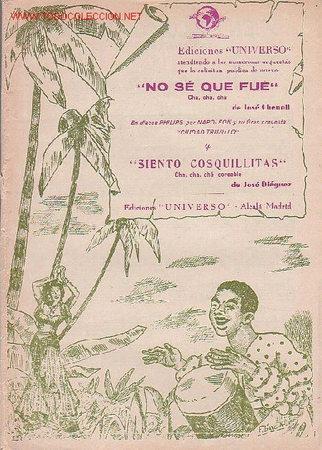 MAGNIFICO LIBRETO CON PARTITURAS:CHA-CHA-CHA,NO SE QUE FUÉ J.CHENOLL,SIENTO COSQUILLITAS,J.DIÉGUEZ (Música - Partituras Musicales Antiguas)