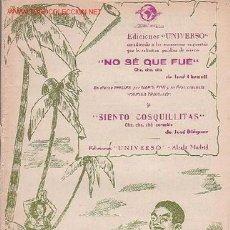 Partituras musicales: MAGNIFICO LIBRETO CON PARTITURAS:CHA-CHA-CHA,NO SE QUE FUÉ J.CHENOLL,SIENTO COSQUILLITAS,J.DIÉGUEZ . Lote 12639448