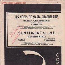 Partituras musicales: MAGNIFICO LIBRETO CON PARTITURAS DE CANCIONES DL MUNDO,LES NOCES D MARIA CHAPDELAINE Y SENTIMENTA ME. Lote 12639456