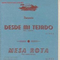 Partituras musicales: MAGNIFICO LIBRETO CON LAS PARTITURAS DESDE MI TEJADO FOX-CANCIO Y MESA ROTA FOX MEDIO TIEMPO . Lote 8891962