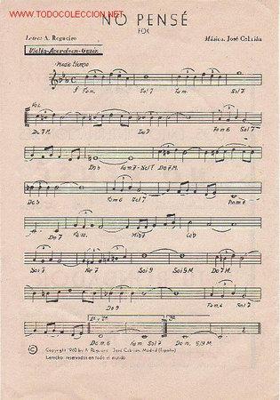 Partituras musicales: MAGNIFICO LIBRETO CON PARTITURAS DE FOX, JOSE CEBRIAN ORQUESTA TITULAR DEL HOTEL WELLINGTON,MADRID - Foto 2 - 12639453
