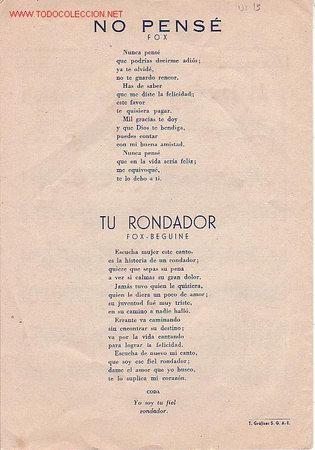 Partituras musicales: MAGNIFICO LIBRETO CON PARTITURAS DE FOX, JOSE CEBRIAN ORQUESTA TITULAR DEL HOTEL WELLINGTON,MADRID - Foto 3 - 12639453