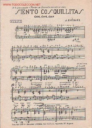 Partituras musicales: MAGNIFICO LIBRETO CON PARTITURAS:CHA-CHA-CHA,NO SE QUE FUÉ J.CHENOLL,SIENTO COSQUILLITAS,J.DIÉGUEZ - Foto 2 - 12639448