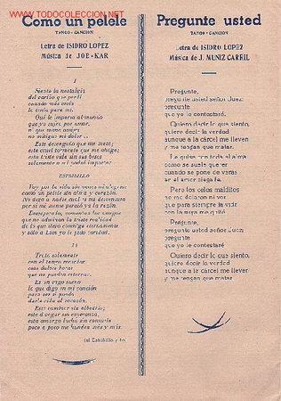 Partituras musicales: MAGNIFICO LIBRETO CON PARTITURAS DE DOS TANGO, COMO UN PELELE Y PREGUNTE USTED DE CARLOS PUCCINI - Foto 3 - 29893639