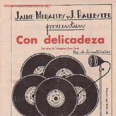 Partituras musicales: MAGNIFICO LIBRETO CON PARTITURAS DE 2 FOX CON DELICADEZA Y METAL NEGRO DE J. MIRALLES Y J. BALLESTER. Lote 8891964