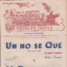 Partituras musicales: MAGNIFICO LIBRETO CON PARTITURAS DE CHA-CHA-CHA UN NO SE QUE DE P. OROZCO Y MI TUMBADORA DE L. RIVAS. Lote 12639464