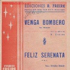 Partituras musicales: MAGNIFICO LIBRETO CON PARTITURAS 2 FOX, VENGA BOMBERO L. Y M. FREIRE,FELIZ SERENATA M. EMILIO BIELSA. Lote 2159381