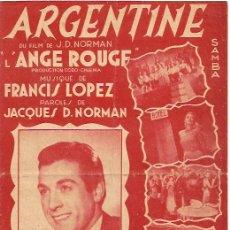 Partituras musicales: LUIS MARIANO PARTITURA DE LA CANCION ARGENTINE. . Lote 10761876