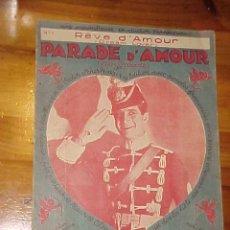 Partituras musicales: PARADE D'AMOUR. EDITIONS FRANCIS SALABERT. CHANSON VALSE. PARTITURA. EDICION FRANCESA.*. Lote 11825721