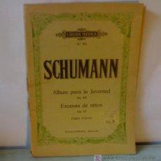 Partituras musicales: PARTITURAS PARA PIANO EDICION IBERICA SCHUMANN EDITORIAL BOILEAU BARCELONA. Lote 21663309