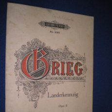 Partituras musicales: LANDERKENNUNG - EDVARD GRIEG OP. 31 - EDITION PETERS Nº 2085. Lote 13254350