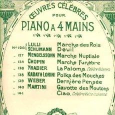 Partituras musicales: LA PALOMA: CÉLEBRE HABANERA. Lote 14139749