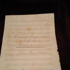 Partituras musicales: PARTITURA HECHA A MANO.VALS BOSTON. CUANDO EL AMOR MUERE DE OCTAVE CREMIEUX.LUISA BRAUN MULACK.. Lote 22781934
