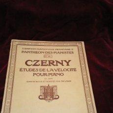 Partituras musicales: CZERNY.ETUDES DE LA VELOCITÉ POUR PIANO. ESTE Y MAS PARTITURAS EN RASTRILLOPORTOBELLO. Lote 25351034