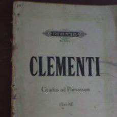 Partituras musicales: CLEMENTI - GRADUS AD PARNASSUM (TAUSIG) - EDITION PETERS - Nº 3013 - RARO!. Lote 26943381