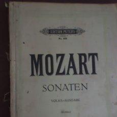 Partituras musicales: MOZART - SONATEN (VOLKS - AUSGABE) - EDITION PETERS Nº 485 - RARO!. Lote 26284429