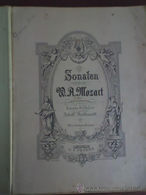 Partituras musicales: MOZART - SONATEN (VOLKS - AUSGABE) - EDITION PETERS Nº 485 - RARO! - Foto 2 - 26284429