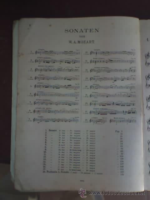 Partituras musicales: MOZART - SONATEN (VOLKS - AUSGABE) - EDITION PETERS Nº 485 - RARO! - Foto 3 - 26284429