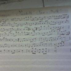 Partituras musicales: PARTITURA ANTIGUA MANUSCRITA MARTIN RODRIGUEZ PASODOBLE. Lote 14980750