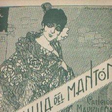 Partitions Musicales: LA CHULA DEL MANTÓN CANCIÓN MADRILEÑA DE RENÉ. Lote 111874975