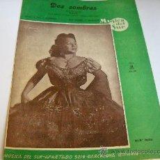 Partituras musicales: PARTITURA PARA PIANO. RAY GILBERT: DOS SOMBRAS. BEGUINE. DE LA PELÍCULA. Lote 21314820