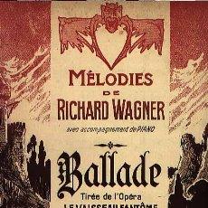 Partituras musicales - Ballade de Richard Wagner - 15577546