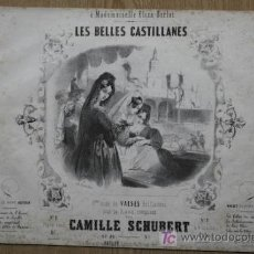 Partituras musicales: LES BELLES CASTILLANES. 8EME… SUITE DE VALSES BRILLANTES POUR LE PAINO. CAMILLE SCHUBERT.. Lote 15923078