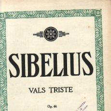 Partituras musicales: SIBELIUS.VALS TRISTE.PARTITURA ORIGINAL.INDUSTRIA ARGENTINA.. Lote 27124042
