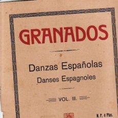 Partituras musicales: PARTITURA.DANZAS ESPAÑOLAS.VOL III.UNION MUSICAL ESPAÑOLA.VER MAS EN RASTRILLOPORTOBELLO. Lote 25234488