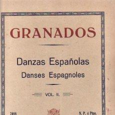 Partituras musicales: GRANADOS.PARTITURA.DANZAS ESPAÑOLAS.VOL II.UNION MUSICAL ESPAÑOLA.. Lote 23543612
