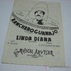 Partiture musicali: PARTITURA VARIOS INSTRUMENTOS. A.PIQUERO: RANCHERO GUANAJO. E.VILLELLAS: LINDA DIANA. CORRIDOS.. Lote 22905521