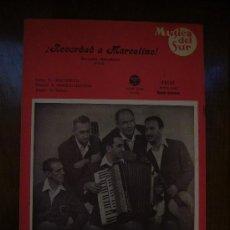 Partituras musicales - Partitura antigua Recordad a Marcelino! - Los Xey - 16529046