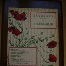 Partituras musicales: PARTITURA ANTIGUA - SARDANES - VICENS BOU. Lote 16529652