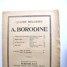 Partituras musicales: QUATRE MELODIES DE A.BORODINE, W.BESSEL 6 CIE, BREITKOPF & HARTEL. Lote 17634726