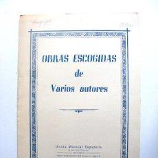 Partituras musicales: OBRAS ESCOGIDAS DE VARIOS AUTORES, EL RUISEÑOR. Lote 17634734