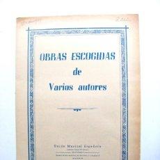 Partituras musicales: OBRAS ESCOGIDAS DE VARIOS AUTORES, LAS ARANYAS. Lote 17634739