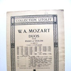 Partituras musicales: COLLECTION LITOLFF, W.A.MOZART. Lote 17634744