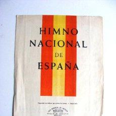 Partituras musicales: HIMNO NACIONAL DE ESPAÑA, BOILEAU. Lote 17784033