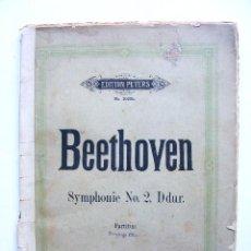 Partituras musicales: NEUN SYMPHONIEN FUR ORCHEFTER, L.VAN BEETHOVEN, PARTITURA, LEIPZIG, PETERS. Lote 18069633