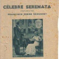 Partituras musicales: PARTITURA DE CÉLEBRE SERENATA, POR F.P. SCHUBERT. Lote 26013262