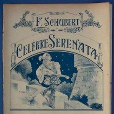 Partituras musicales: PARTITURA CÉLEBRE SERENATA. F. SCHUBERT. BOILEAU, SIN FECHA.. Lote 24403199