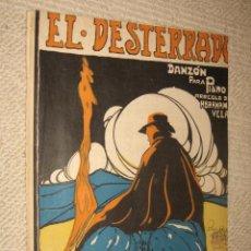 Partituras musicales: EL DESTERRADO, DANZÓN PARA PIANO, POR ABRAHAM VELASCO. EDITADO EN MÉXICO. 2 PP.. Lote 22501444