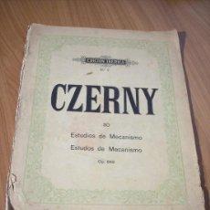 Partituras musicales: 30 ESTUDIOS DE MECANISMO OP. 849 (CARLOS CZERNY) EDICION IBÉRICA Nº 7. Lote 18795178