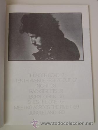 Partituras musicales: Born to Run. Bruce Springsteen. Libro de partituras. Año 1975. ORIGINAL. Coleccionistas!!! - Foto 2 - 26327764