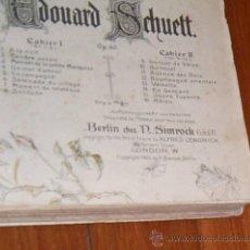 Partituras musicales: ANTIGUO LIBRO PARTITURAS DE 1900 ~ 7 COMPOSITORES INCLUIDO CHOPIN Y SCHUMANN~SIGLO XIX. Lote 28379825
