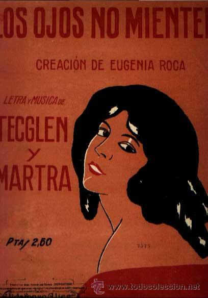 Partituras musicales: LOS OJOS NO MIENTEN CREACIÓN DE EUGENIA ROCA MÚSICA DE TECGLEN Y MARTRA - Foto 1 - 147038346