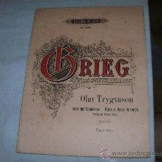 Partituras musicales: EDVARD GRIEG -. Lote 20845163